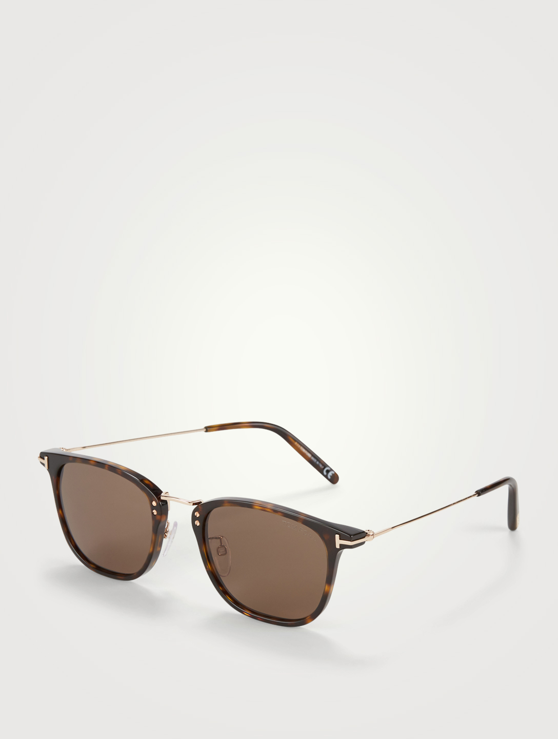 TOM FORD Beau Square Sunglasses Men's Brown