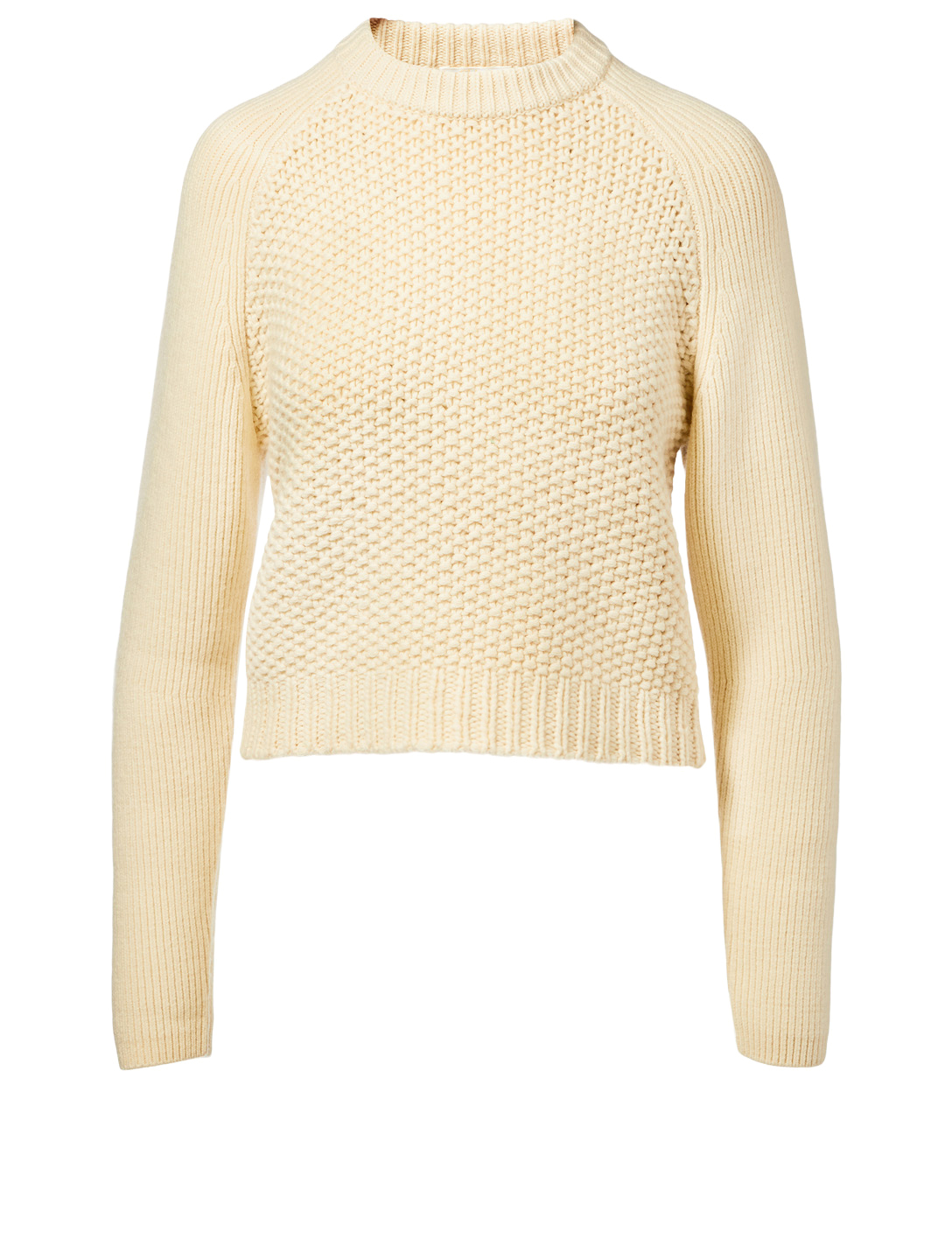 f8b0503ed175 CHLOÉ Wool And Cashmere Mixed Knit Sweater Women s White ...