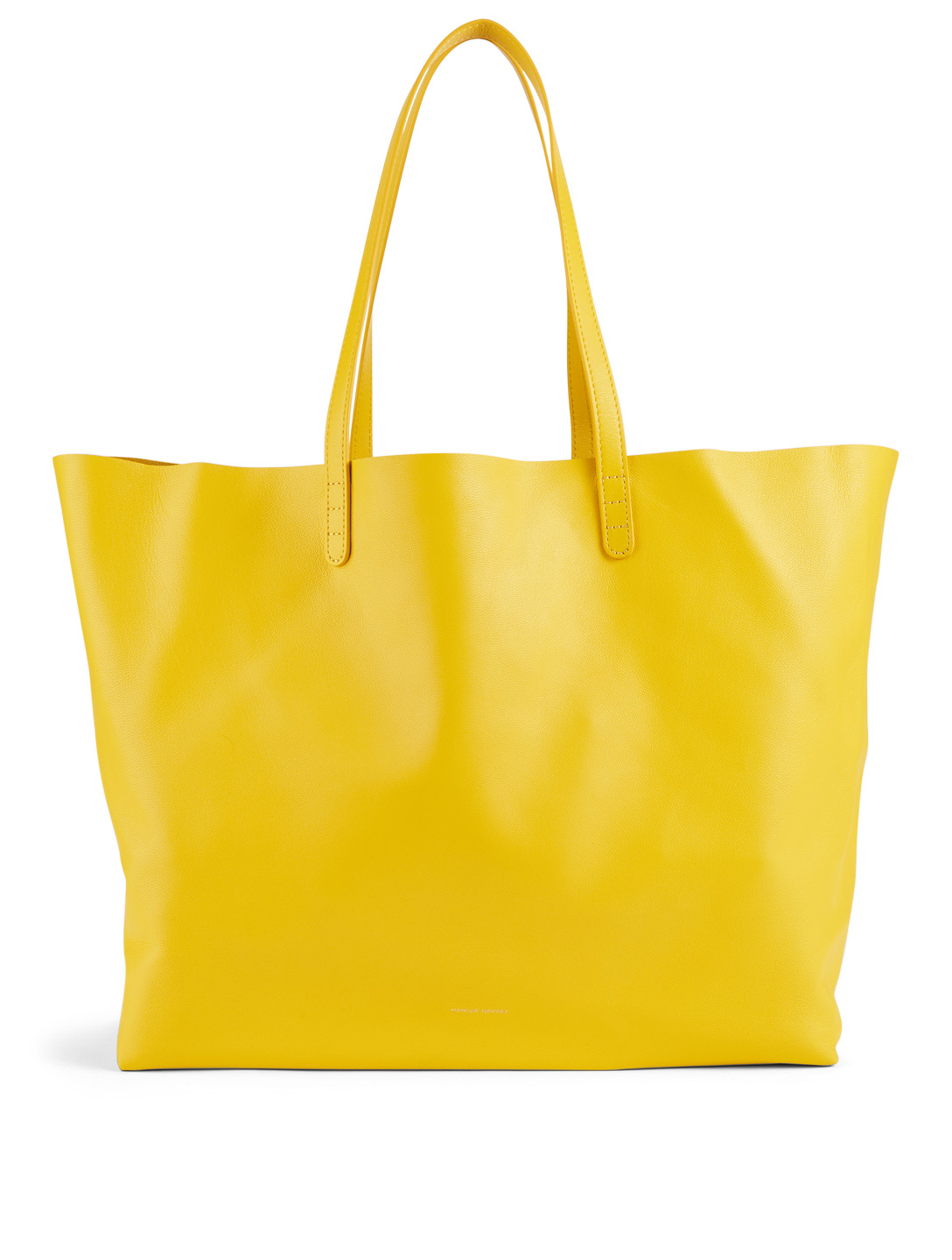 MANSUR GAVRIEL Leather Oversized Tote Bag Women's Yellow