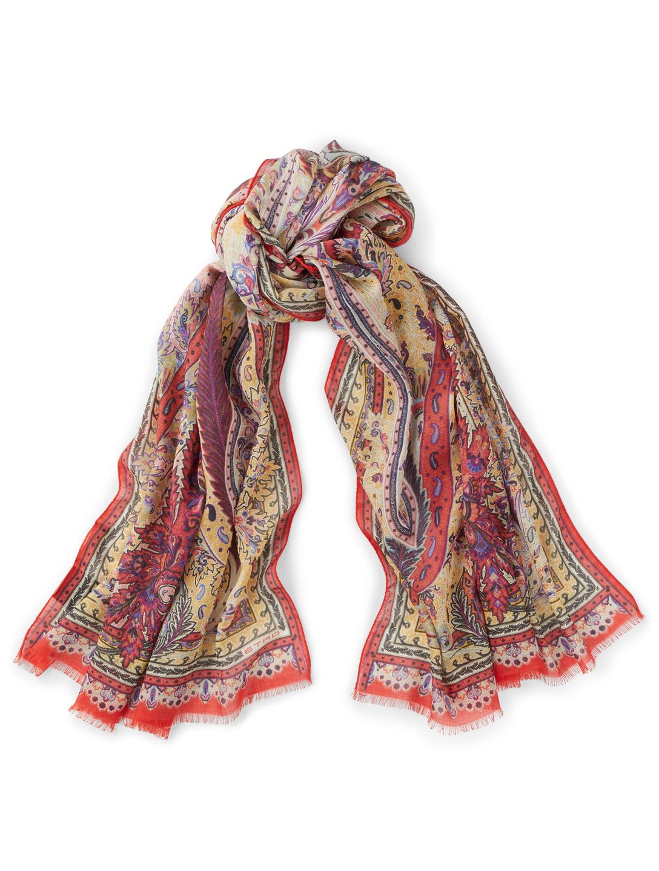6538916b64b9 ETRO Écharpe Delhy en laine et en soie à motif cachemire   Holt Renfrew