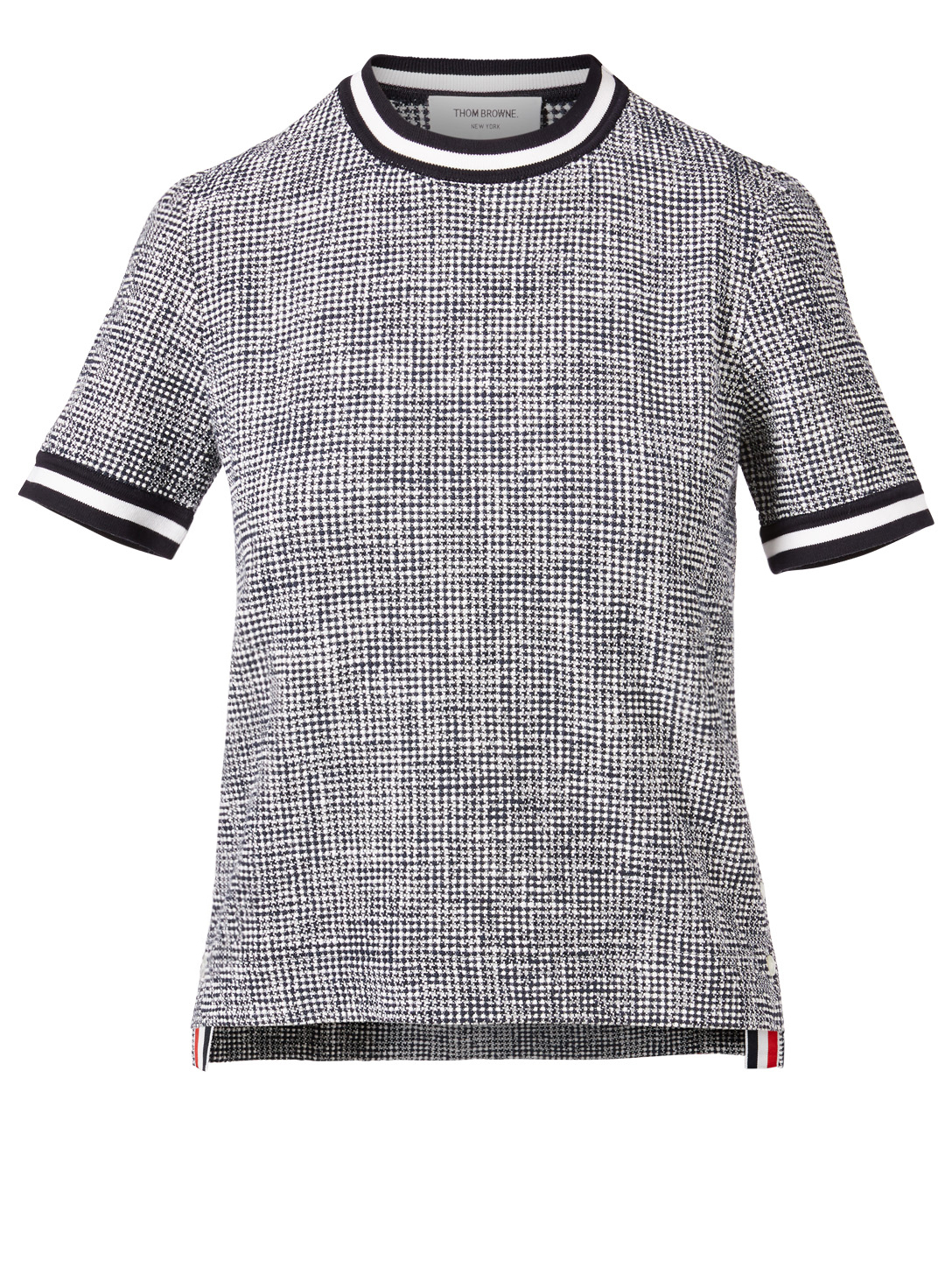 THOM BROWNE Tweed T-Shirt Women's Blue