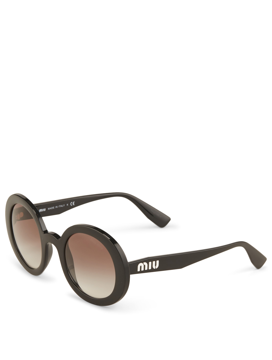 MIU MIU Round Sunglasses Women's Black