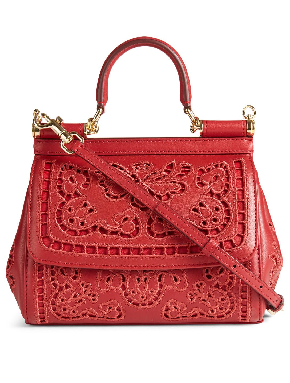 2689fa074f20 DOLCE   GABBANA Small Sicily Embroidered Leather Bag