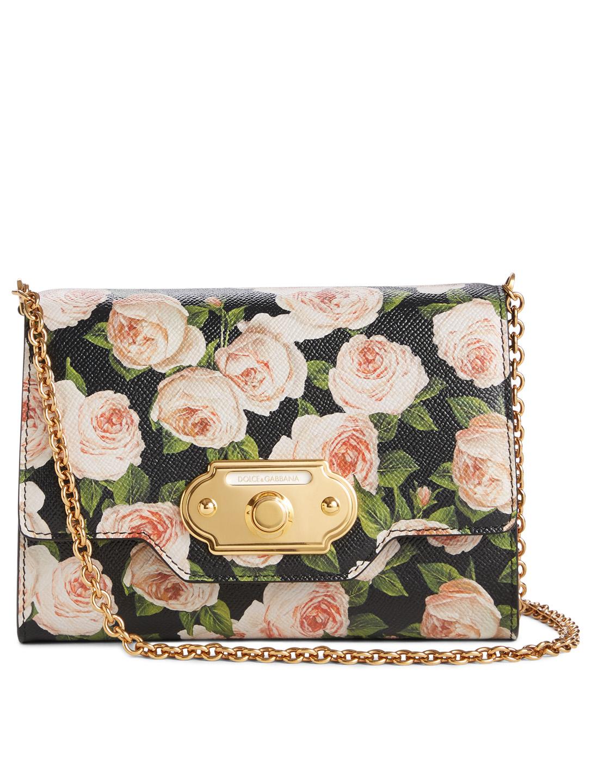 481c84e8bd0 DOLCE & GABBANA Leather Crossbody Bag In Floral Print Women's Multi ...