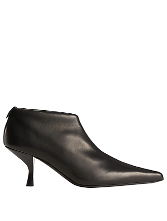 THE ROW Bourgeoise Leather Ankle Boots Womens Black