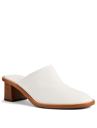 THE ROW Tea Time Clog Leather Mules Women's White