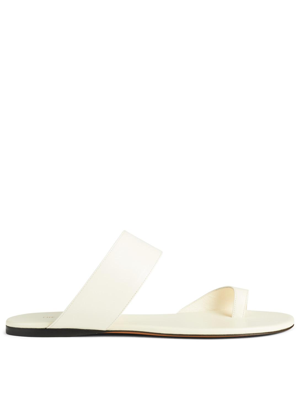 56dea2d223e THE ROW Infradito Leather Sandals Women s White ...