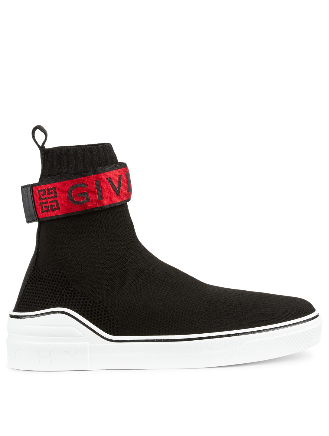 GIVENCHY George V High-Top Sock Sneakers With 4G Webbing Men's Black