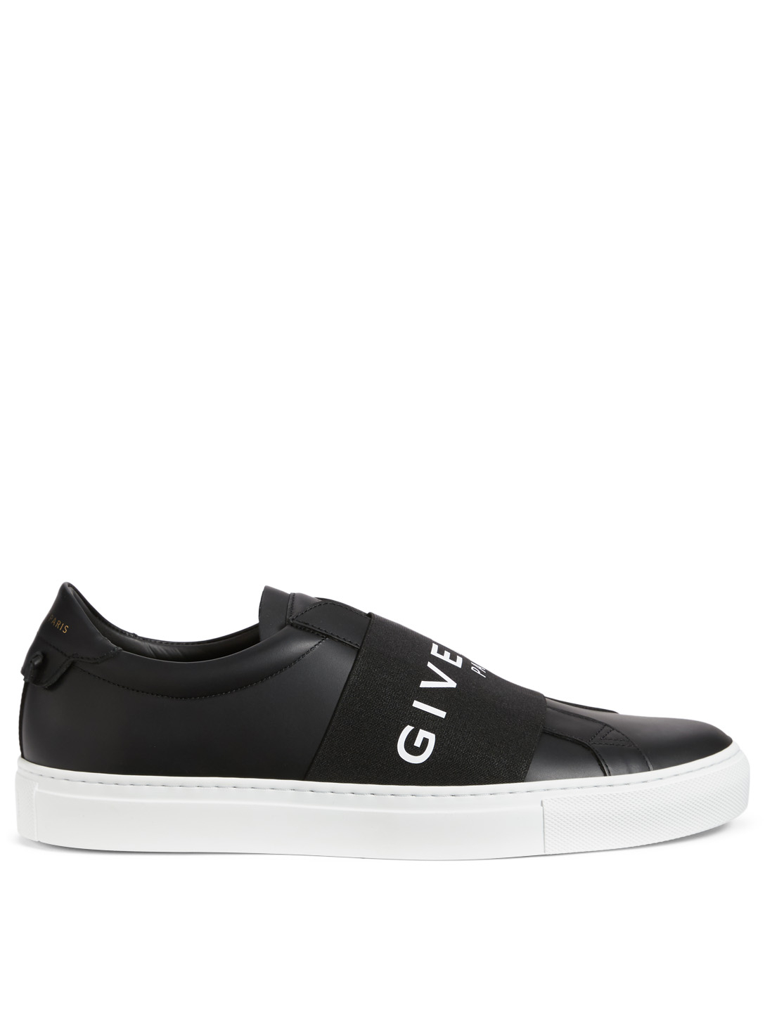 GIVENCHY Urban Street Leather Sneakers With Logo Strap Men's Black