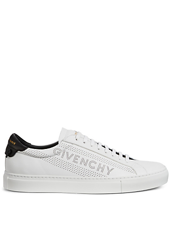 GIVENCHY Urban Street Perforated Leather Sneakers Men's White