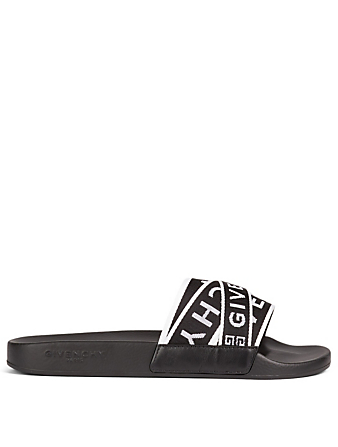 GIVENCHY 4G Webbing Slide Sandals Men's Black