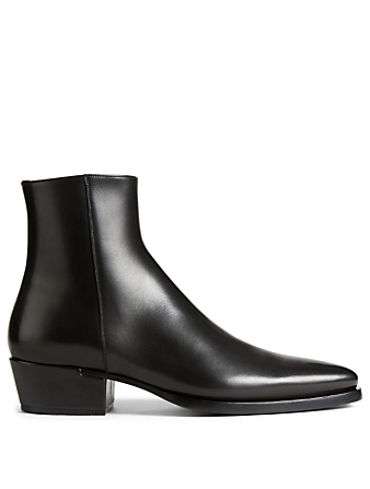 GIVENCHY Dallas Leather Ankle Boots Men's Black
