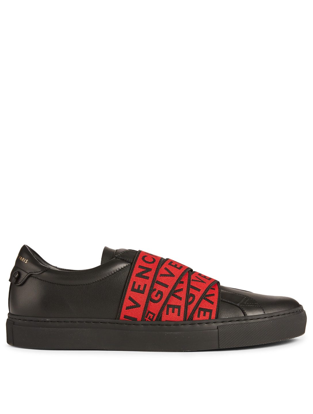 GIVENCHY 4G Webbing Leather Sneakers Men's Black