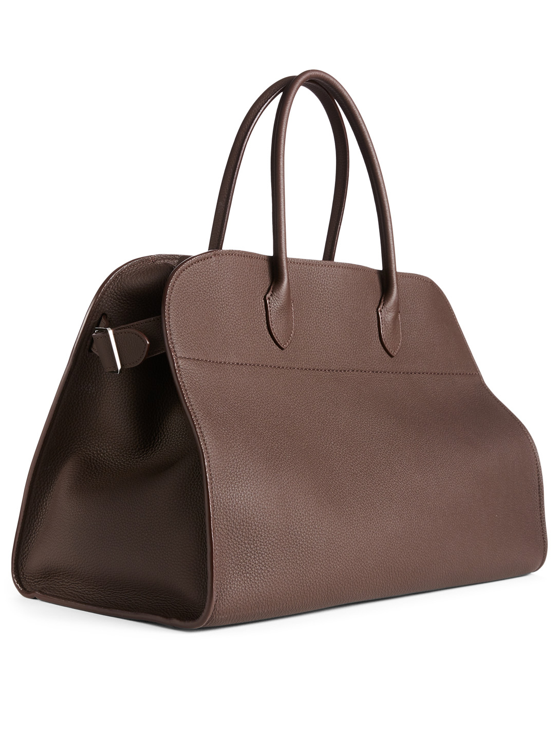 THE ROW Margaux 17 Leather Top Handle Bag Men's Brown