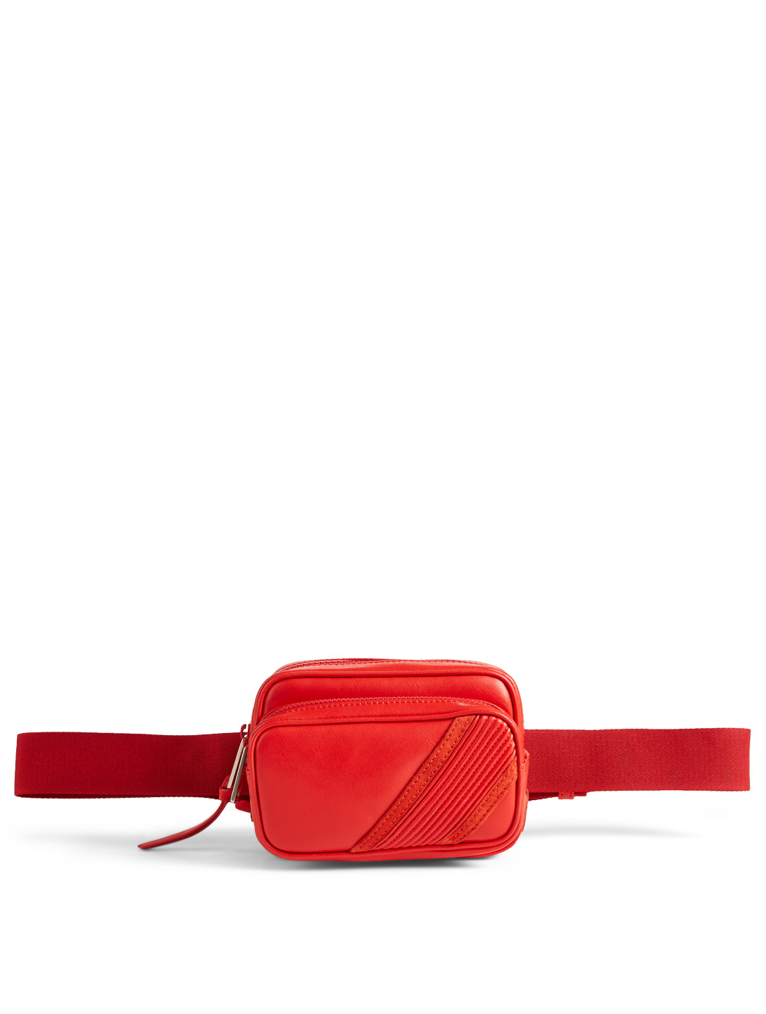 GIVENCHY Leather Belt Bag Men's Red