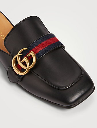 GUCCI Leather Slippers Women's Black