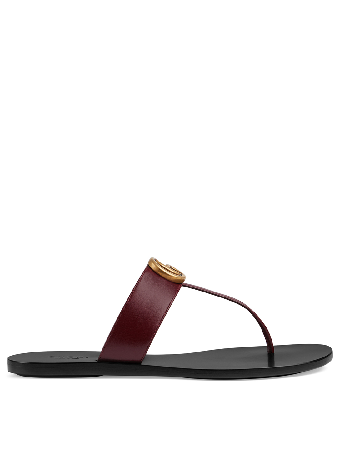 5a3a93abe GUCCI Marmont Leather Thong Sandals Designers Brown ...