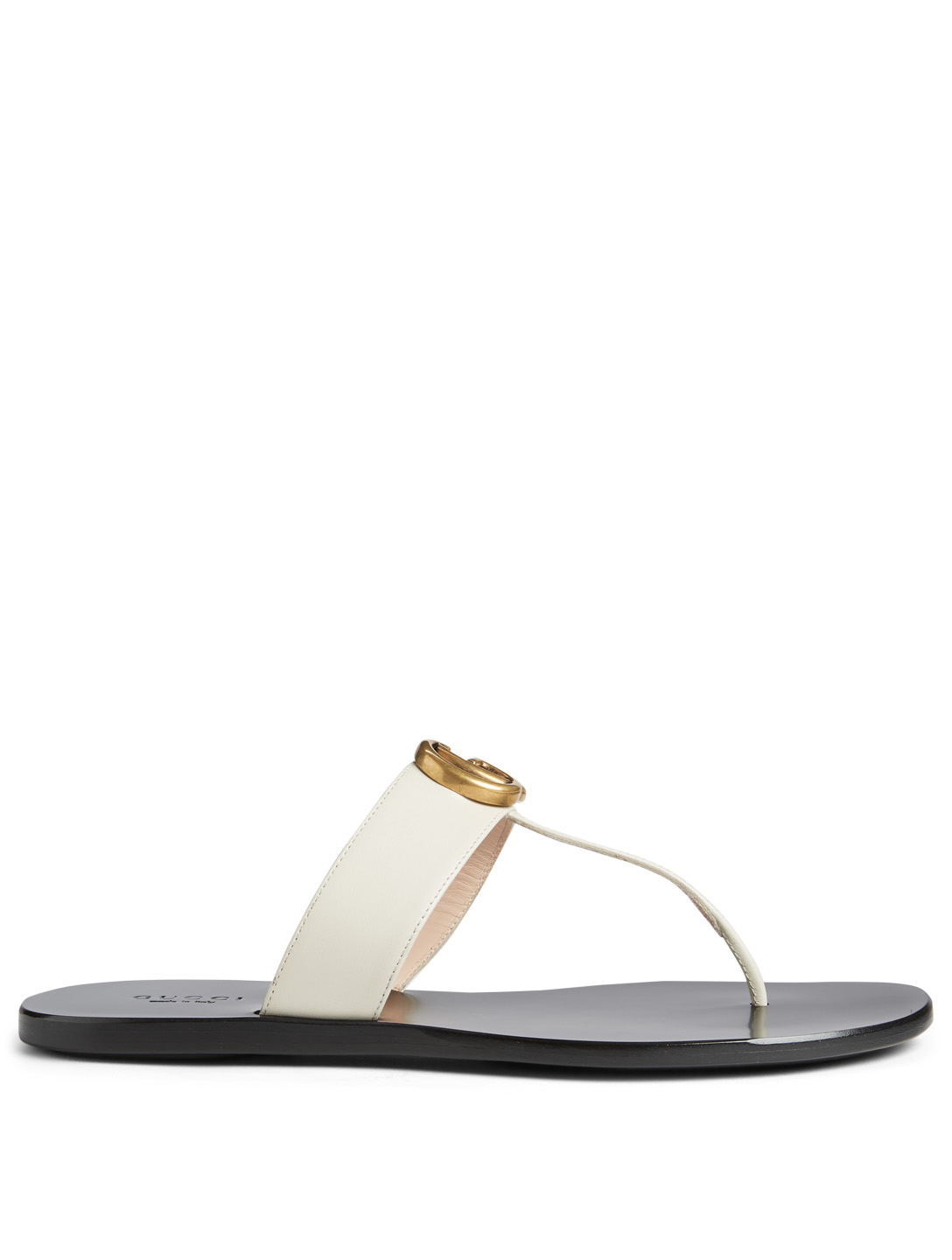 991ed8697 GUCCI Marmont Leather Thong Sandals Women s White ...