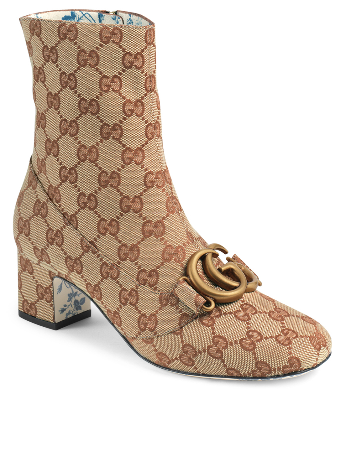 ... GUCCI GG Canvas Ankle Boots With Double G Designers Neutral ... 8f3acb7a0d0