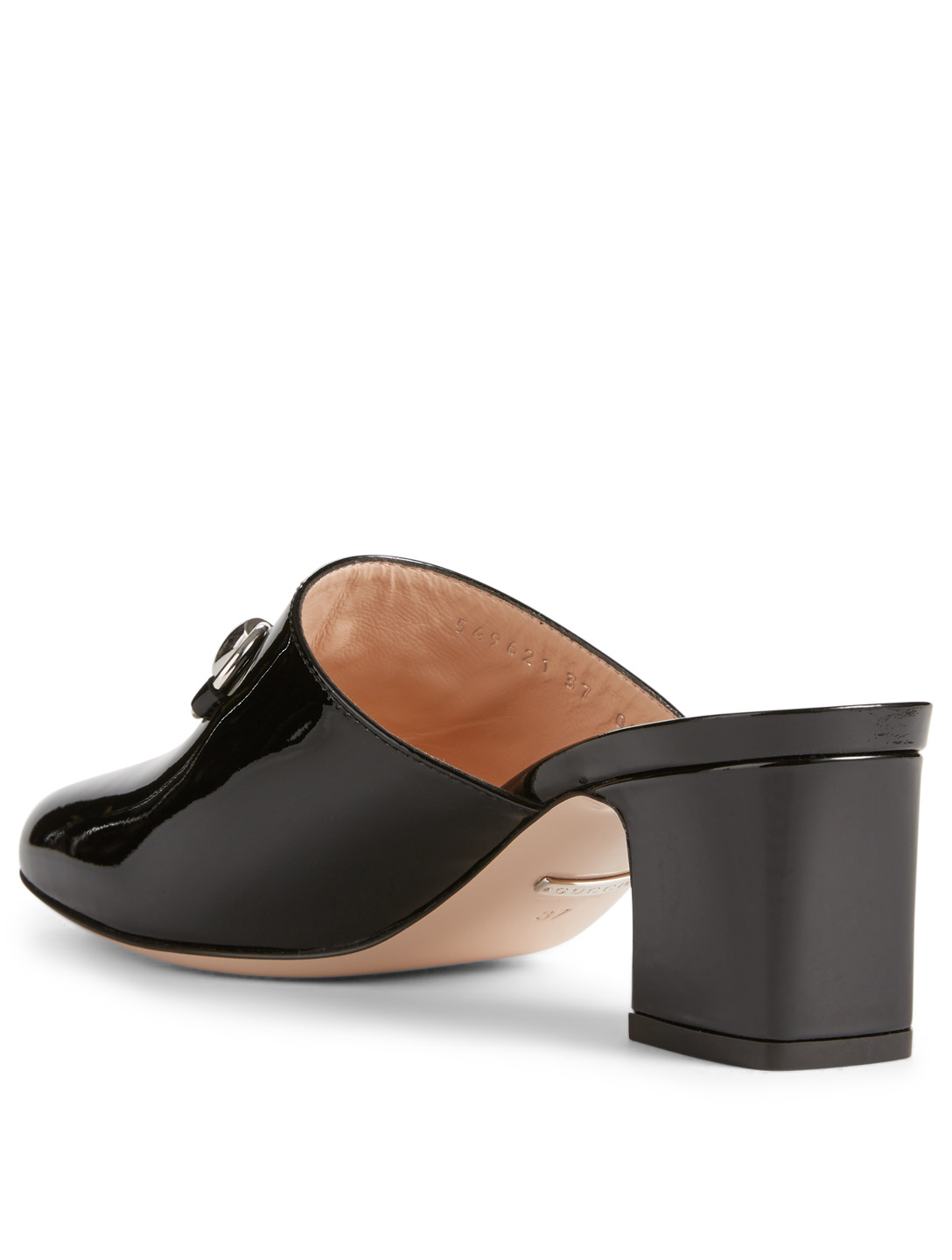 GUCCI Patent Leather Mules With Horsebit Women's Black