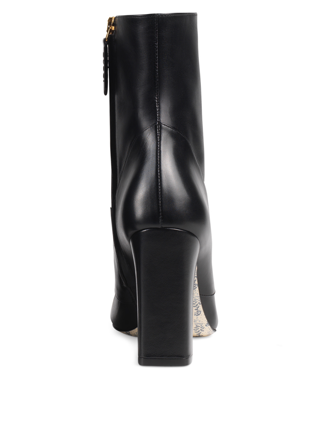 GUCCI Leather Ankle Boots With Double G Designers Black