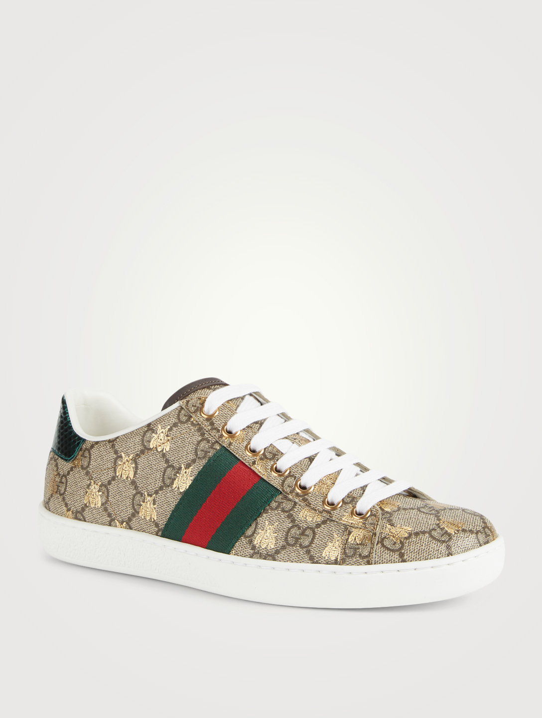 0c495f2d7ad ... GUCCI Ace GG Supreme Sneakers With Bees Womens Neutral ...