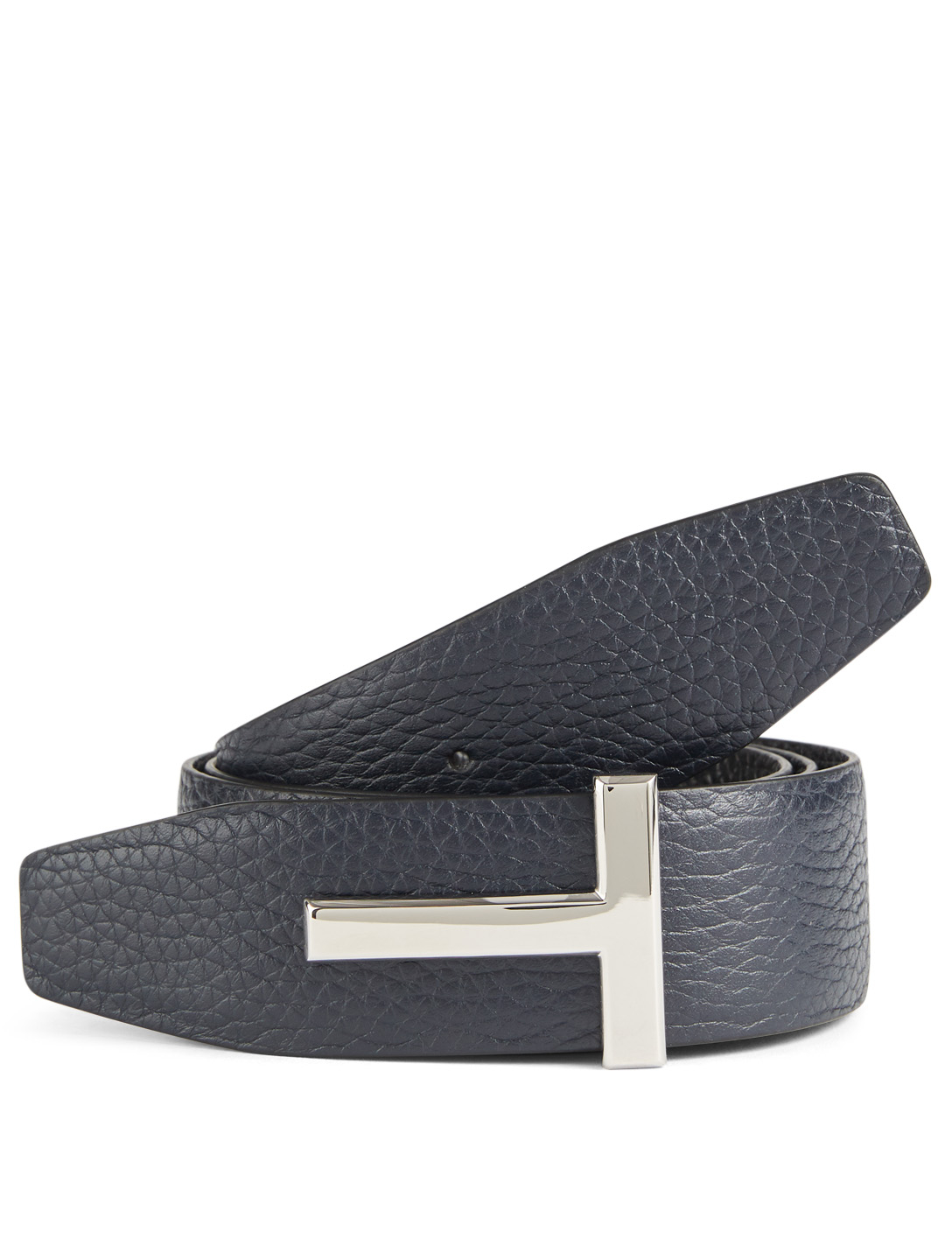 TOM FORD Reversible Leather Icon Belt Men's Blue