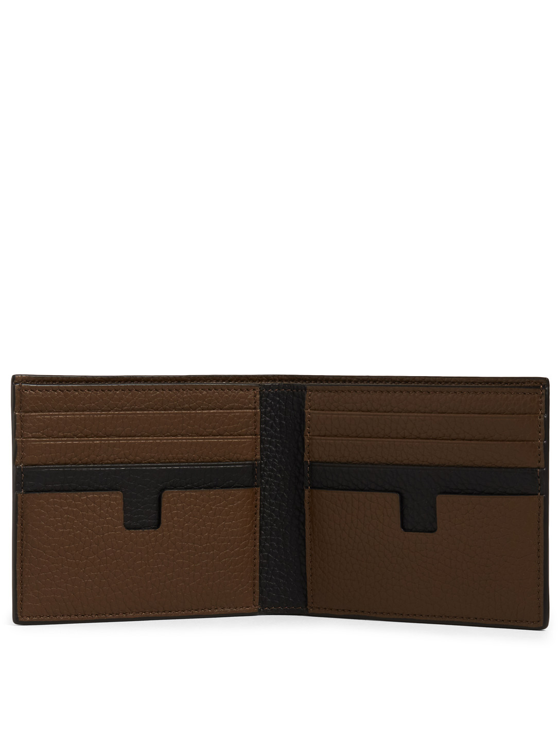TOM FORD Two-Tone Leather Bifold Wallet Men's Neutral