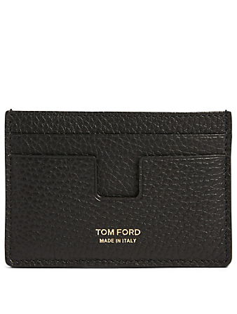 TOM FORD Leather Card Holder Men's Black