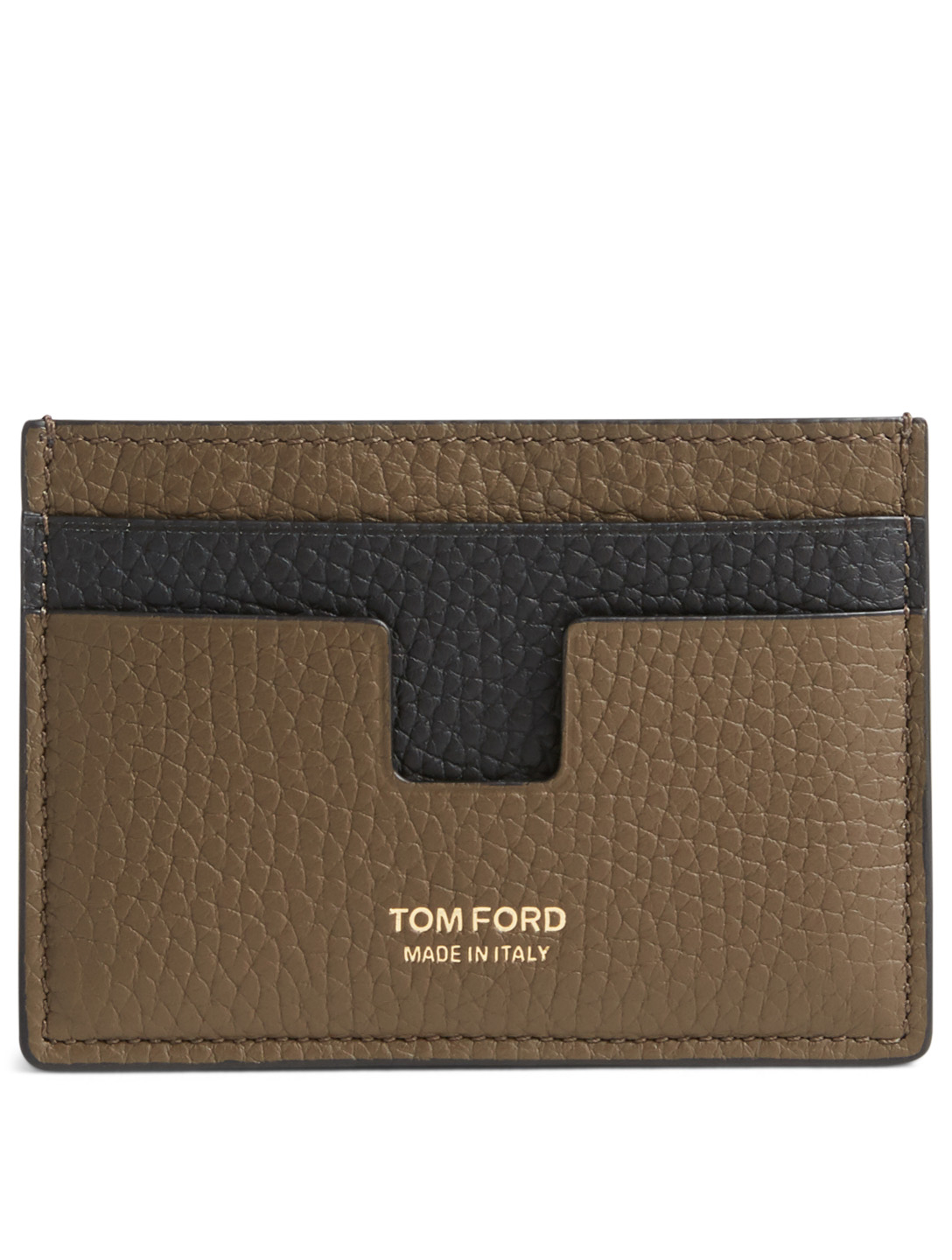 TOM FORD Two-Tone Leather Card Holder Men's Neutral