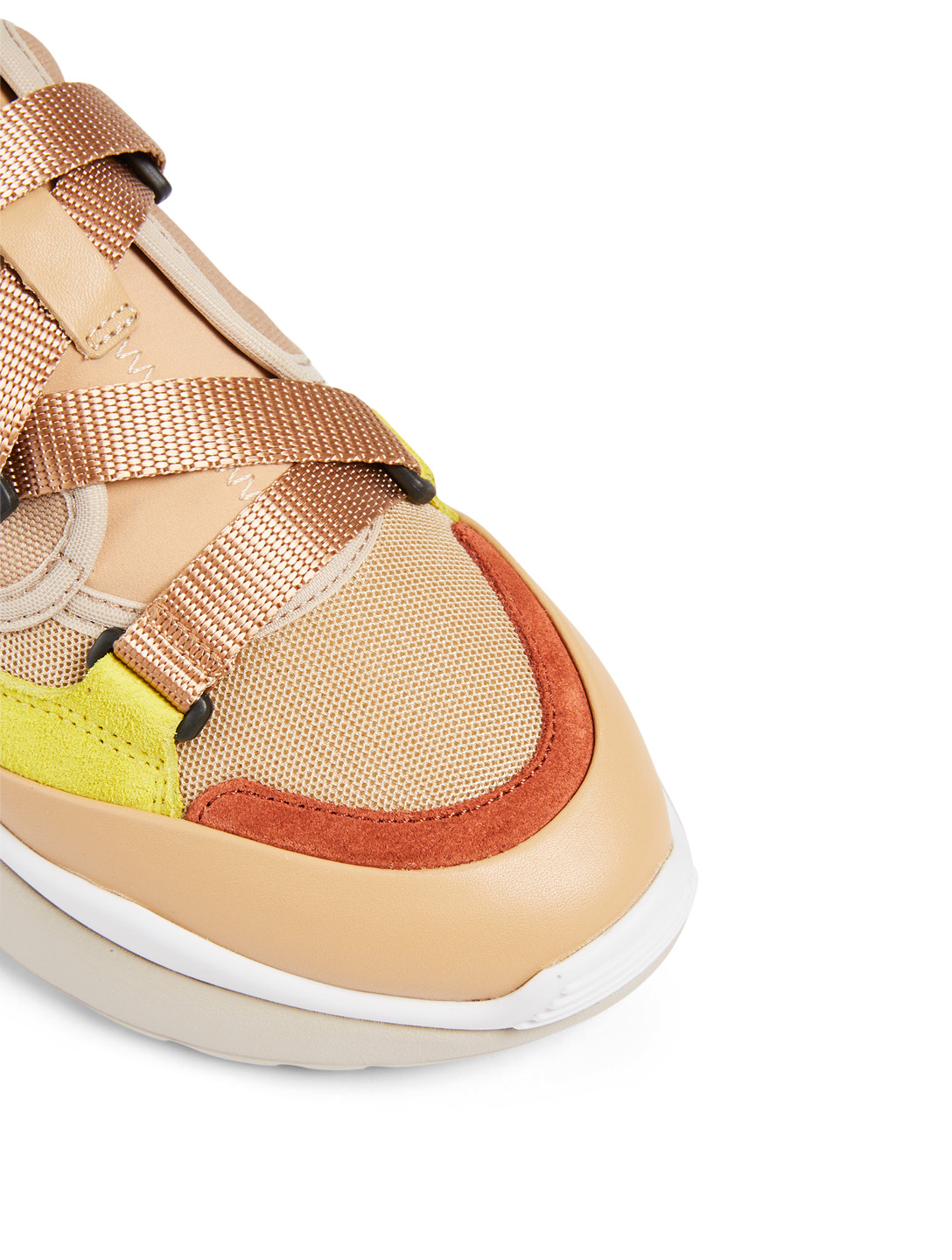 CHLOÉ Sonnie Suede And Canvas Sneakers Women's Pink