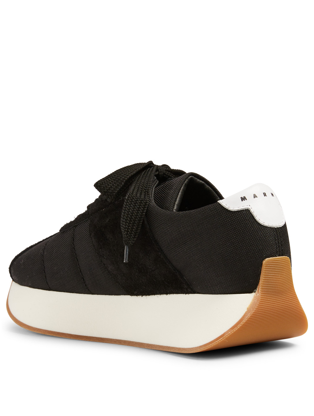 MARNI DANCE BUNNY Big Foot Nylon Sneakers With Bunny Patch Men's Black