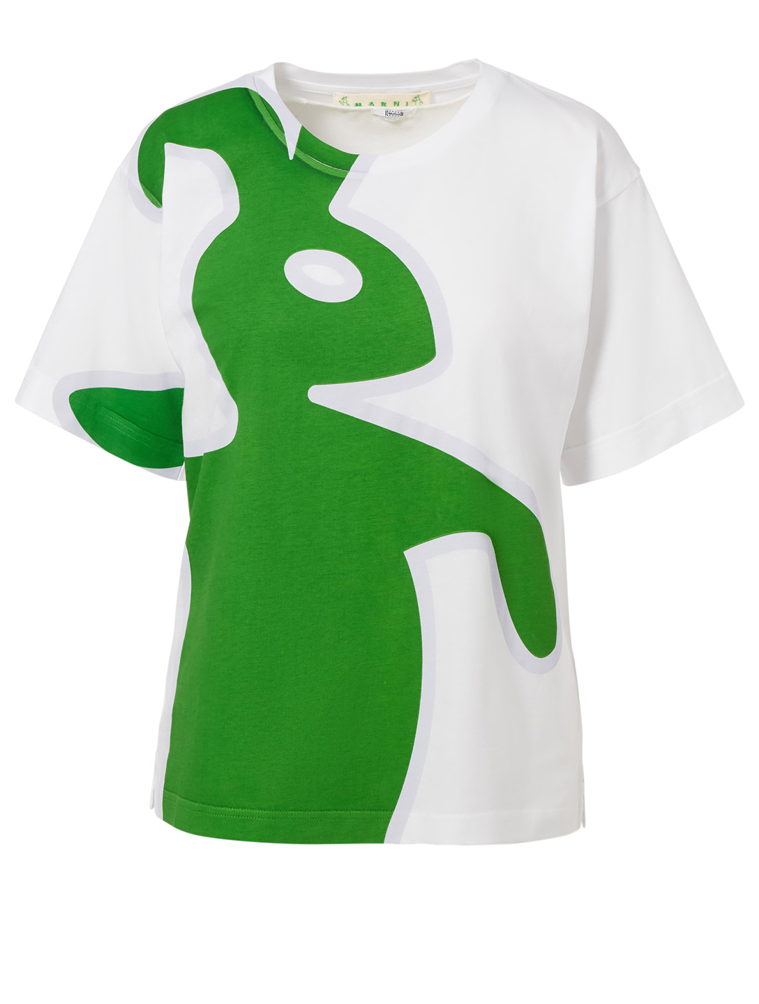 MARNI Dance Bunny Logo T-Shirt Women's White