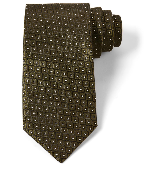 75c45ebb ERMENEGILDO ZEGNA Silk Tie In Geo Pattern | Holt Renfrew