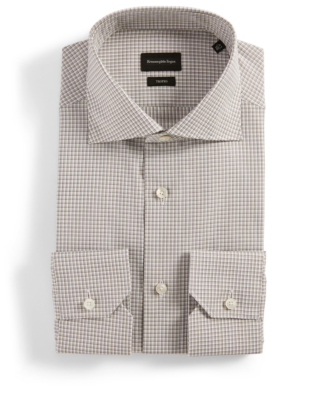 ERMENEGILDO ZEGNA Dress Shirt In Check Men's Green