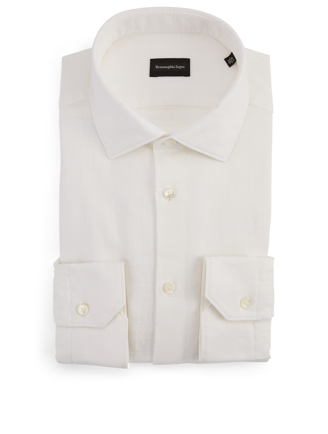 ERMENEGILDO ZEGNA Dress Shirt Men's White