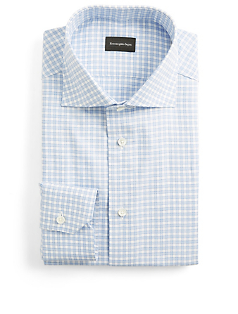 ERMENEGILDO ZEGNA Dress Shirt In Gingham Men's Blue