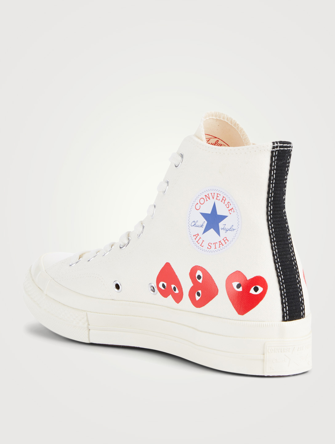 COMME DES GARÇONS PLAY CONVERSE X CDG PLAY Chuck Taylor '70 High-Top Sneakers Men's White