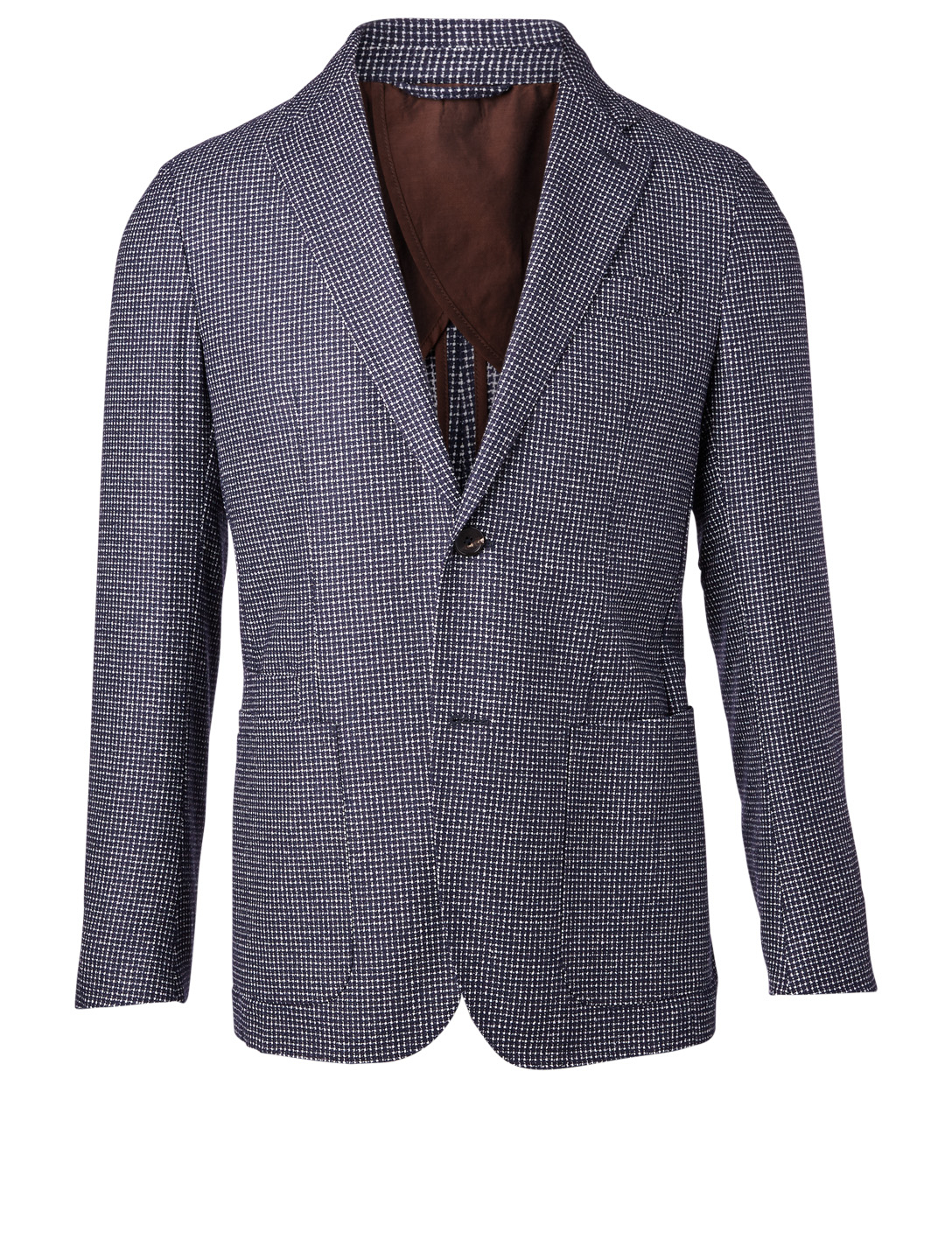 ERMENEGILDO ZEGNA Jacket In Check Men's Blue