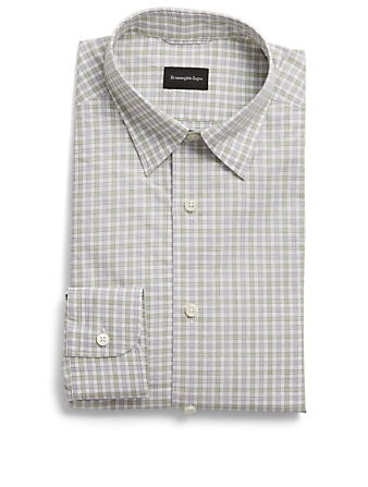 ERMENEGILDO ZEGNA Shirt In Check Men's Green