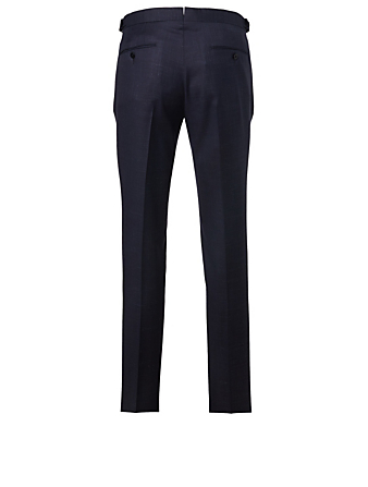 ERMENEGILDO ZEGNA Wool Pants Men's Blue