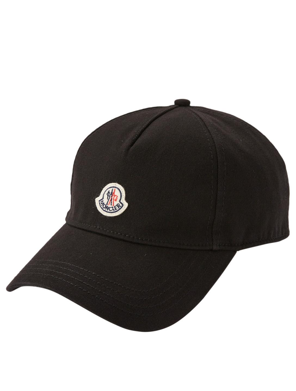 MONCLER Logo Baseball Cap Womens Black ... b3ec2bd53
