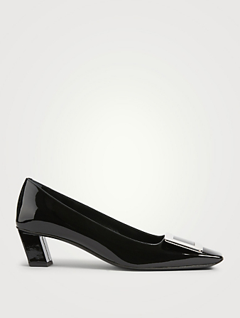 ROGER VIVIER Belle Vivier Patent Leather Pumps Women's Black