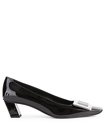 ROGER VIVIER Belle Vivier Buckle Patent Leather Pumps Womens Black