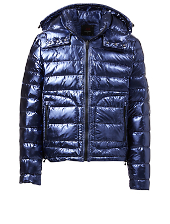 49 WINTERS Sloane Down Metallic Puffer Jacket Men's Blue