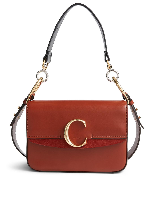 d294cf69f6 CHLOÉ Small Chloé C Leather Double Carry Bag | Holt Renfrew
