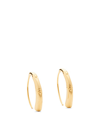 JOHN HARDY Small Bamboo 18K Gold Hook Earrings H Project Gold