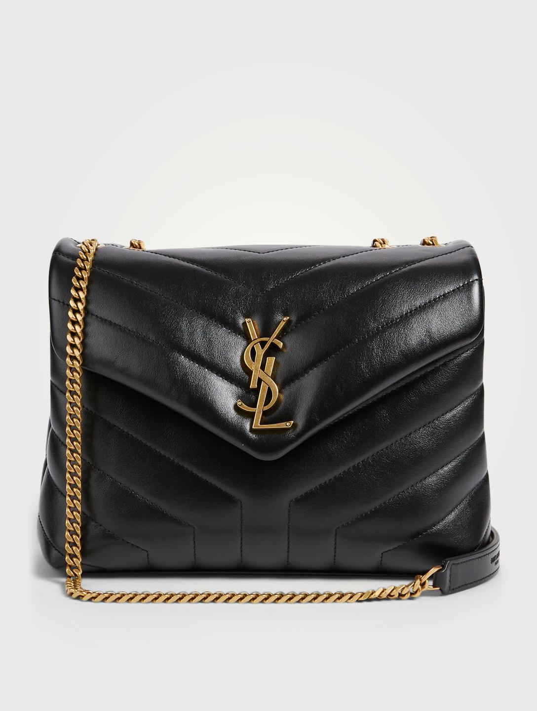 8b157f23952 SAINT LAURENT Small Loulou Monogram Leather Chain Bag Women s Black ...