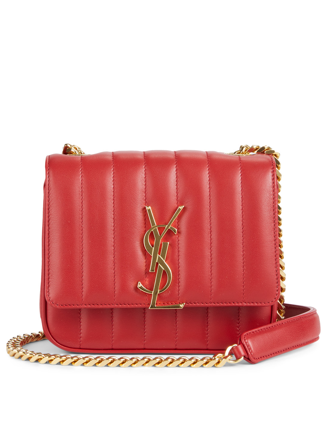 010526b4906 SAINT LAURENT Small Vicky Monogram Leather Chain Bag Women s ...