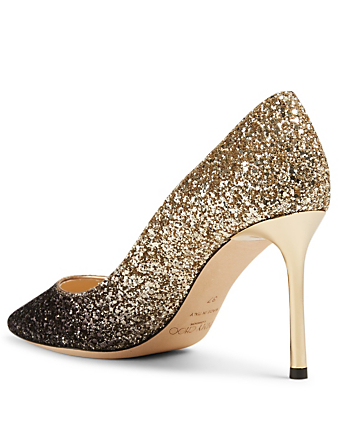 JIMMY CHOO Romy 85 Glitter Dégradé Pumps Womens Black